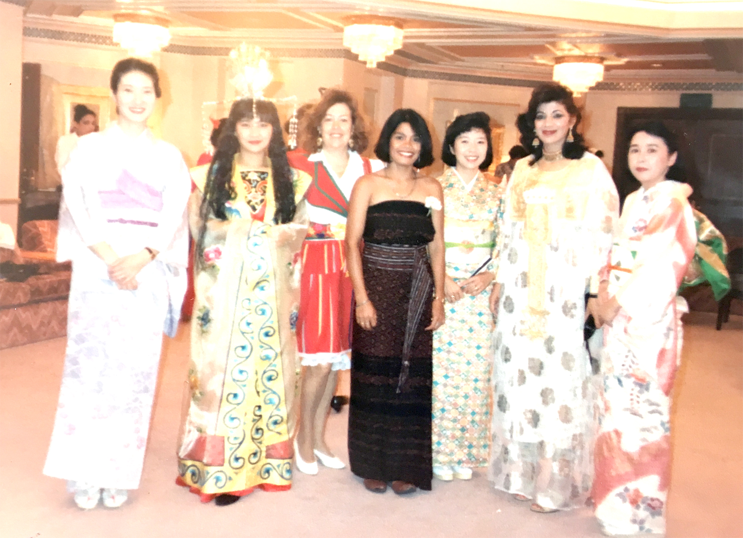 Memory of International Fashion Parade in Muscat, Oman in 1991, showing my Ikat in the Gulf