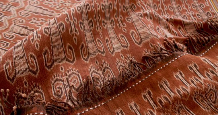 The Sisik Langit Ikat motif of the Dayak people of Indonesian West Borneo.